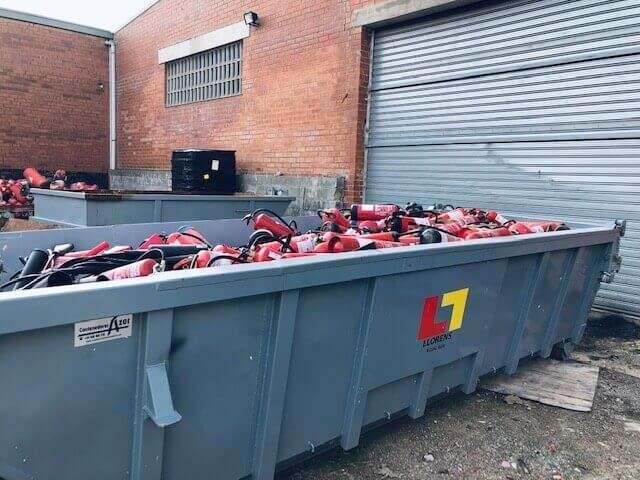 contenedor patera extintores